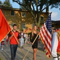 Albanian-American children at parade
