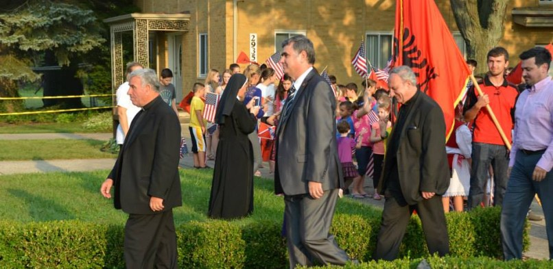 Worshiping the Virgin Mary at Albanian Festival