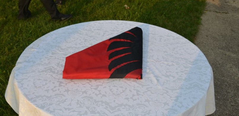 Folded Albanian Flag