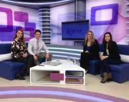 "Ashley and Bora on RTK's ""Mirëmëngjesi Kosovë"""