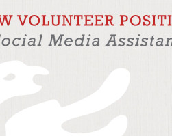 New Volunteer Needed for Position as Social Media Assistant
