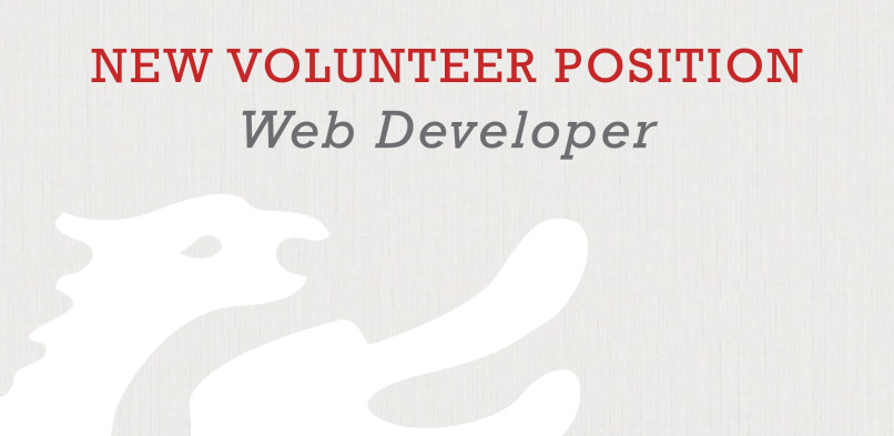 New Volunteer Needed for Position as Web Developer!